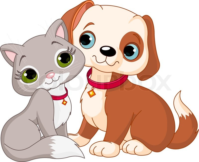 800x652 Dog And Cat Best Friends Ever Stock Vector Colourbox