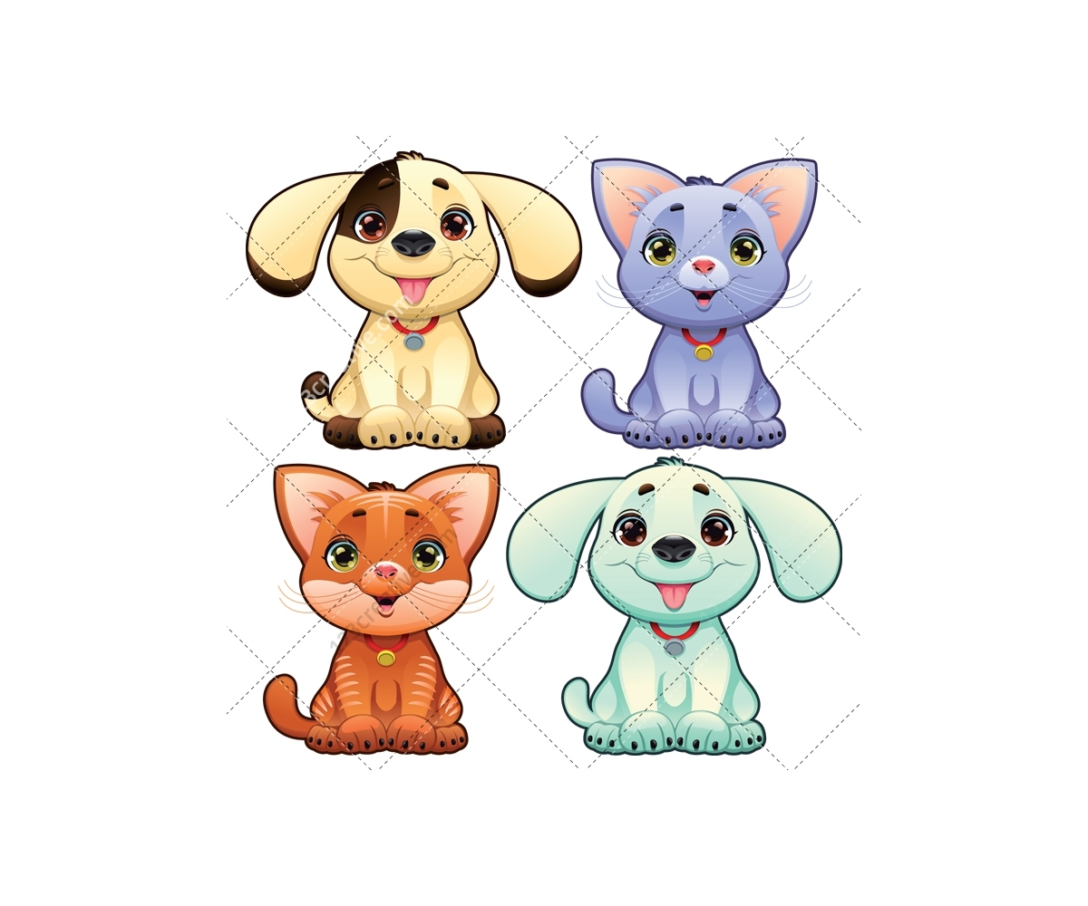 1200x1000 Dog And Cat Vector Pack