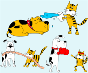 180x150 Free Dog And Cat Clipart And Vector Graphics