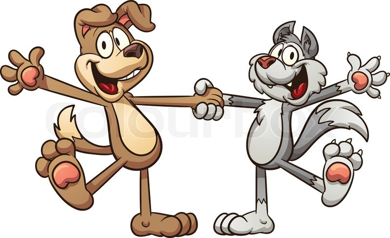 800x488 Graphic Clipart Of Cats And Dogs
