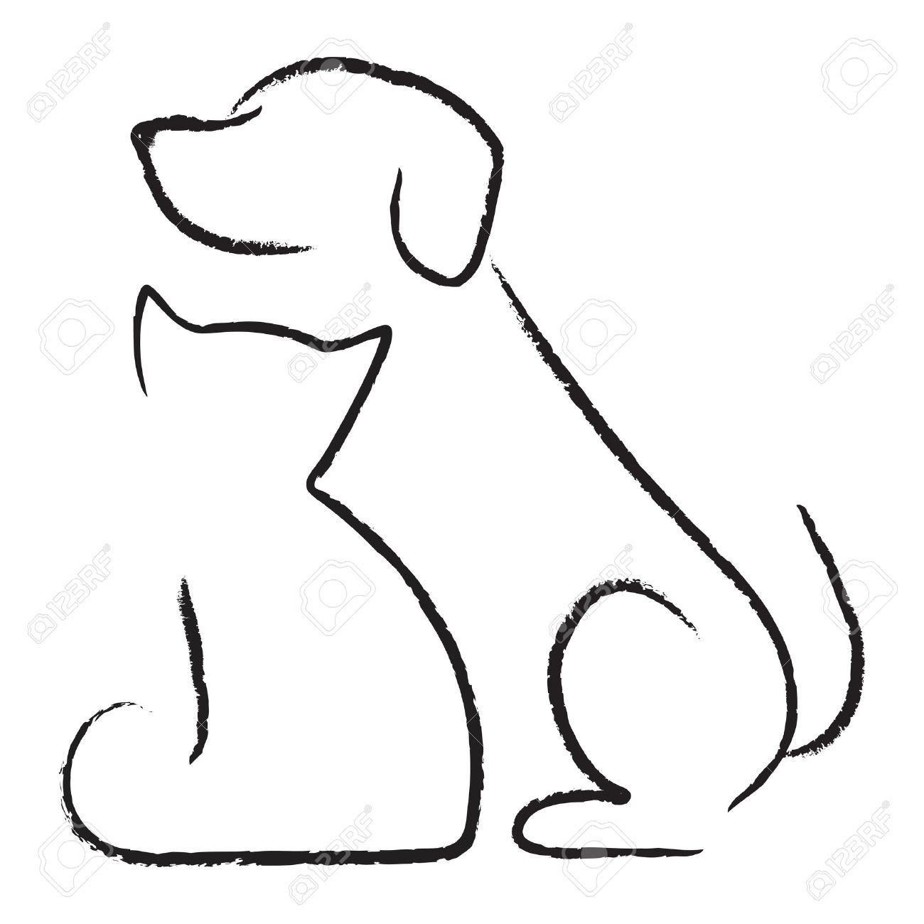 1300x1300 Cat And Dog Vector Clip Art Stock Illustration Of Drawing Clipart