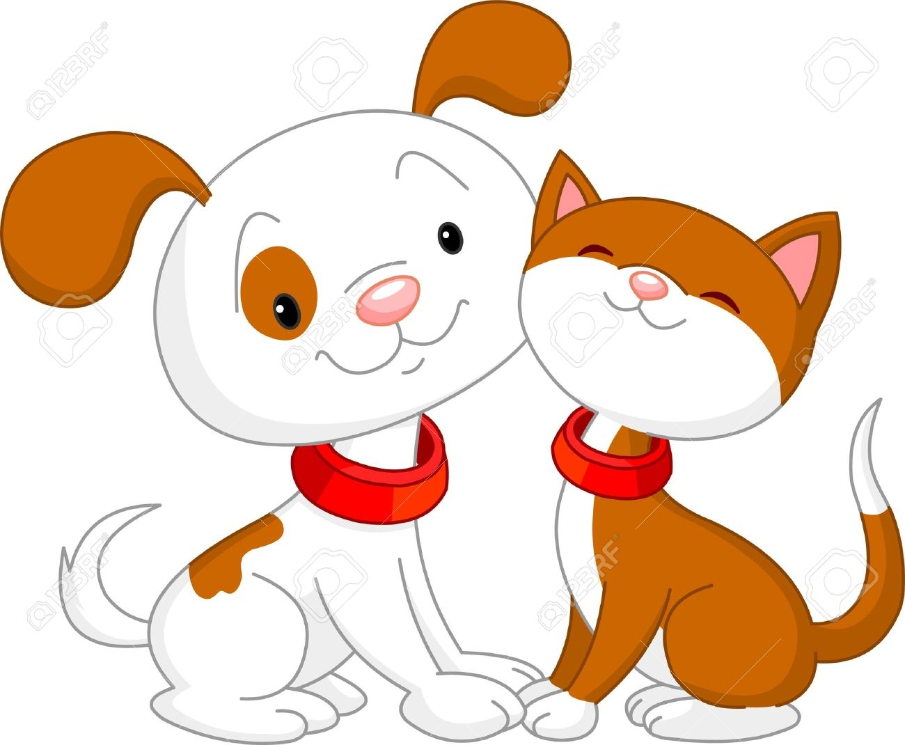 1300x1070 Cat And Dog Vector Clip Art Stock Illustration Of Drawing Free