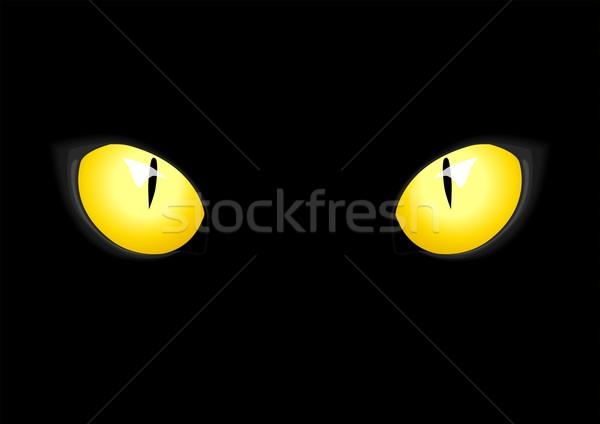600x424 Cat Eyes Vector Illustration Rudall30 ( 4916529) Stockfresh