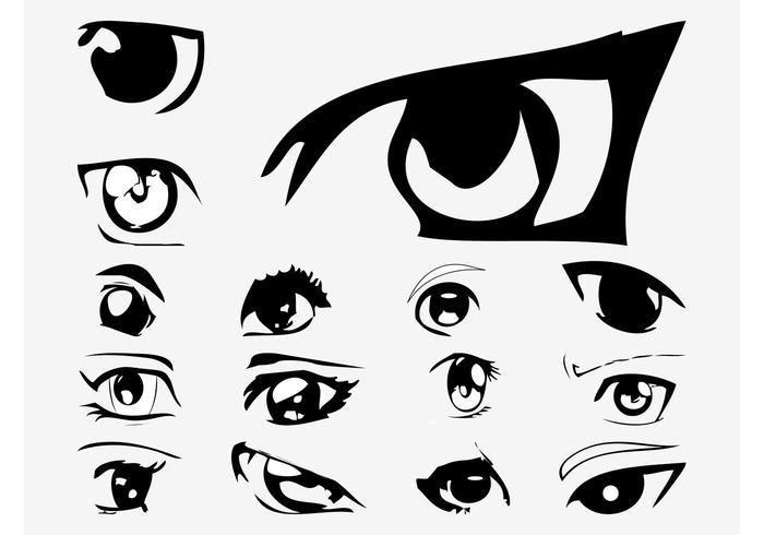 700x490 Anime Eye Vector