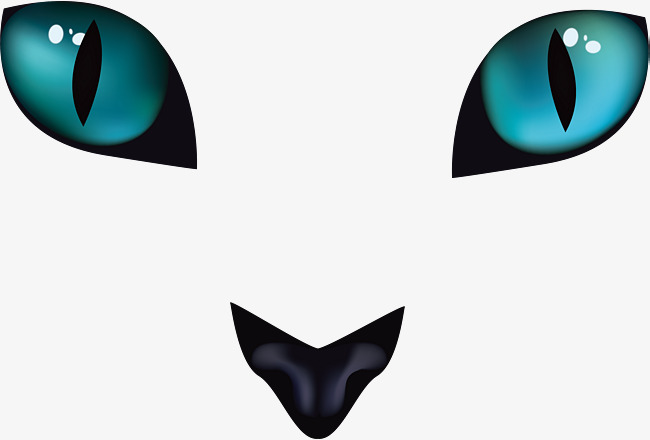 650x440 Horrible Black Cat Eyes, Vector Png, Eye, Cat Eye Png And Vector
