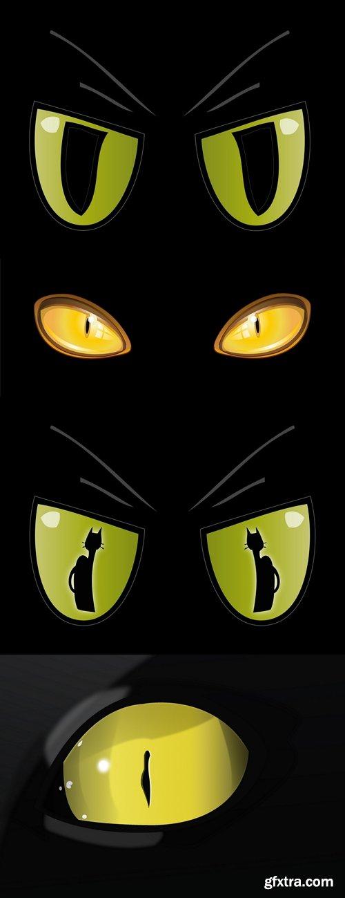 500x1299 Occhi Di Gatto Dorati Golden Cat Eyes Vector Vector, Photoshop