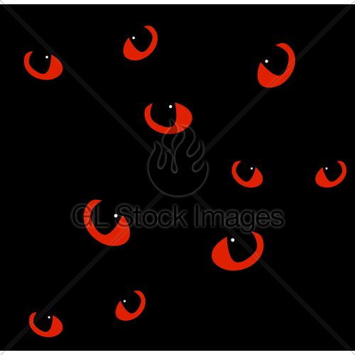 500x500 Red Cat Eyes In Darkness. Vector Background Gl Stock Images