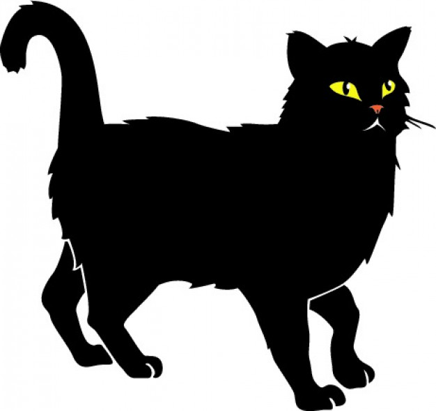 626x589 Black Cat With Yellow Eyes Vector Vector Free Download