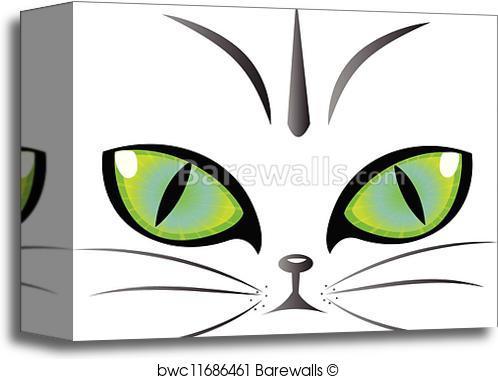 498x379 Canvas Print Of Cat Eyes Logo Vector Barewalls Posters Amp Prints