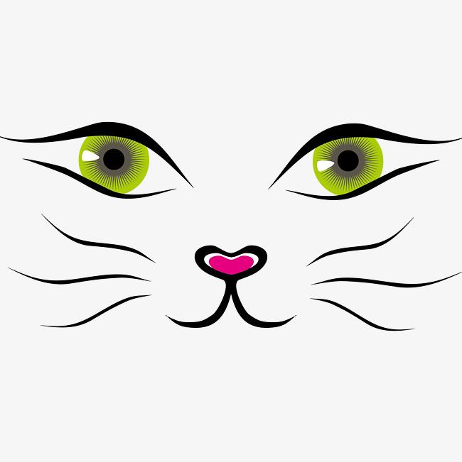 650x651 Cute Cat Face Vector Material, Painted Cat Face, Cute Vector, Cat