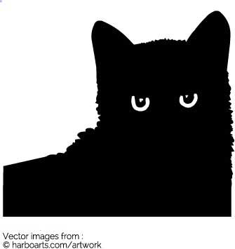 335x355 Download Cat Face Silhouette