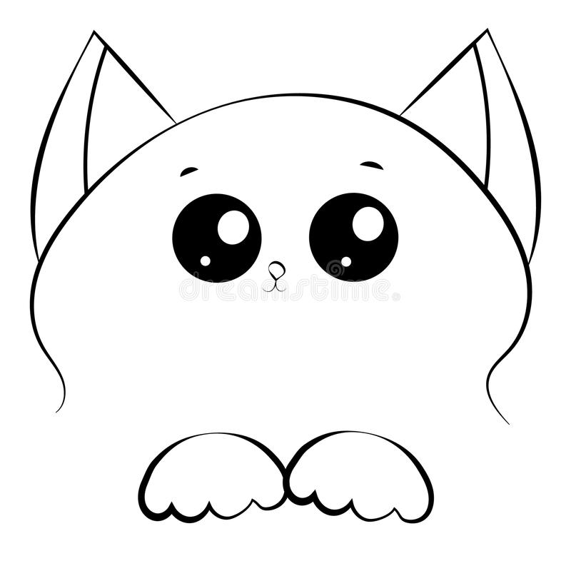 800x800 Free 40 Outline Of Cat Face Vector Black And W