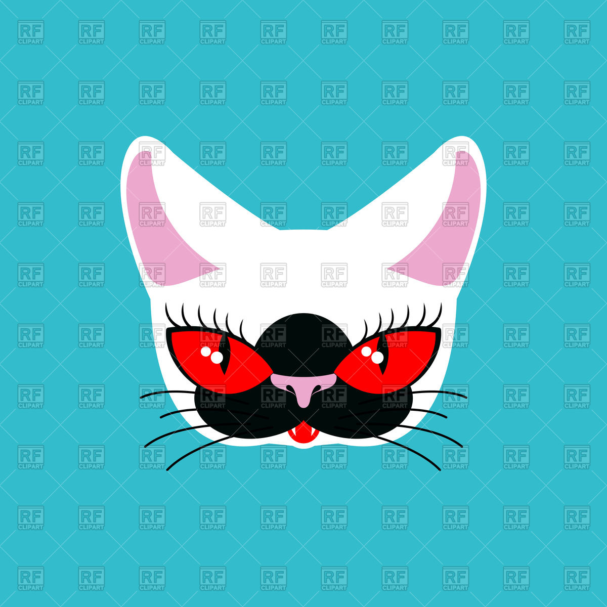 1200x1200 Siamese Cat Face Vector Image Vector Artwork Of Plants And