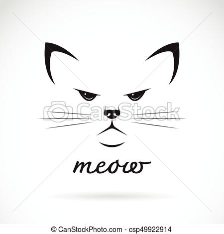450x470 Vector Of A Cat Face On White Background. Pet.