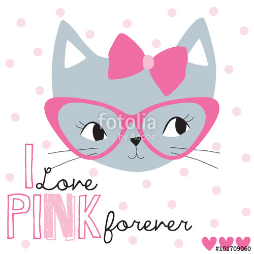 500x500 Pretty Cat Face Vector Illustration Stock Image And Royalty Free