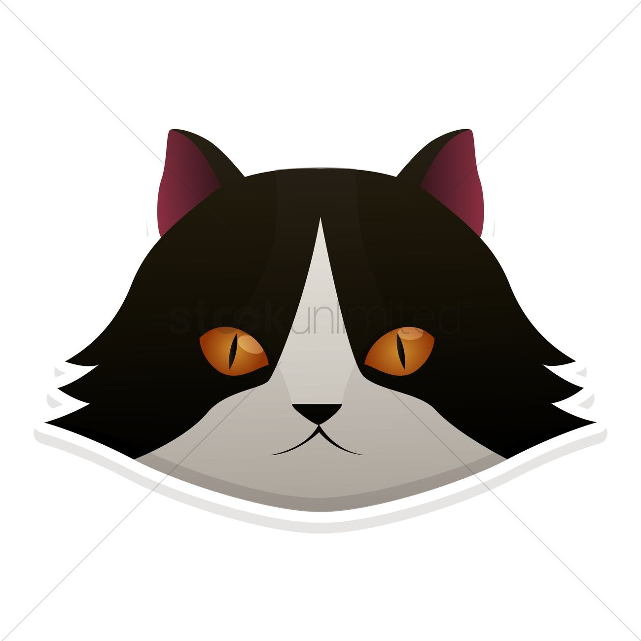 1300x1300 Cat Face Vector Image