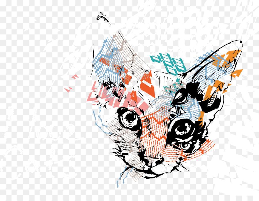 900x700 Cat Illustration