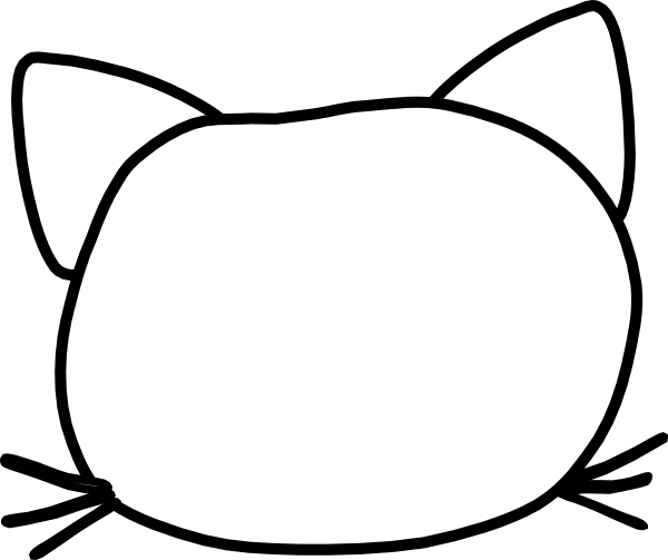 600x503 Collection Of Free Vector Cat Head. Download On Ubisafe