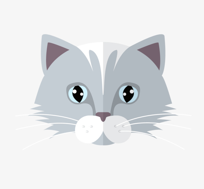 650x603 Flat Cat Head Vector, Flat, Head Portrait, Kitty Png And Vector