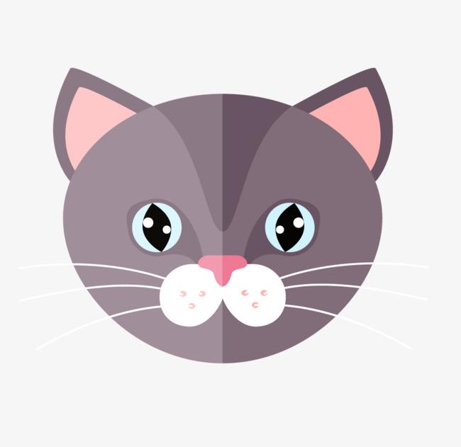 650x631 Gray Cat Head Vector, Cat Vector, Head Vector, Gray Png And Vector
