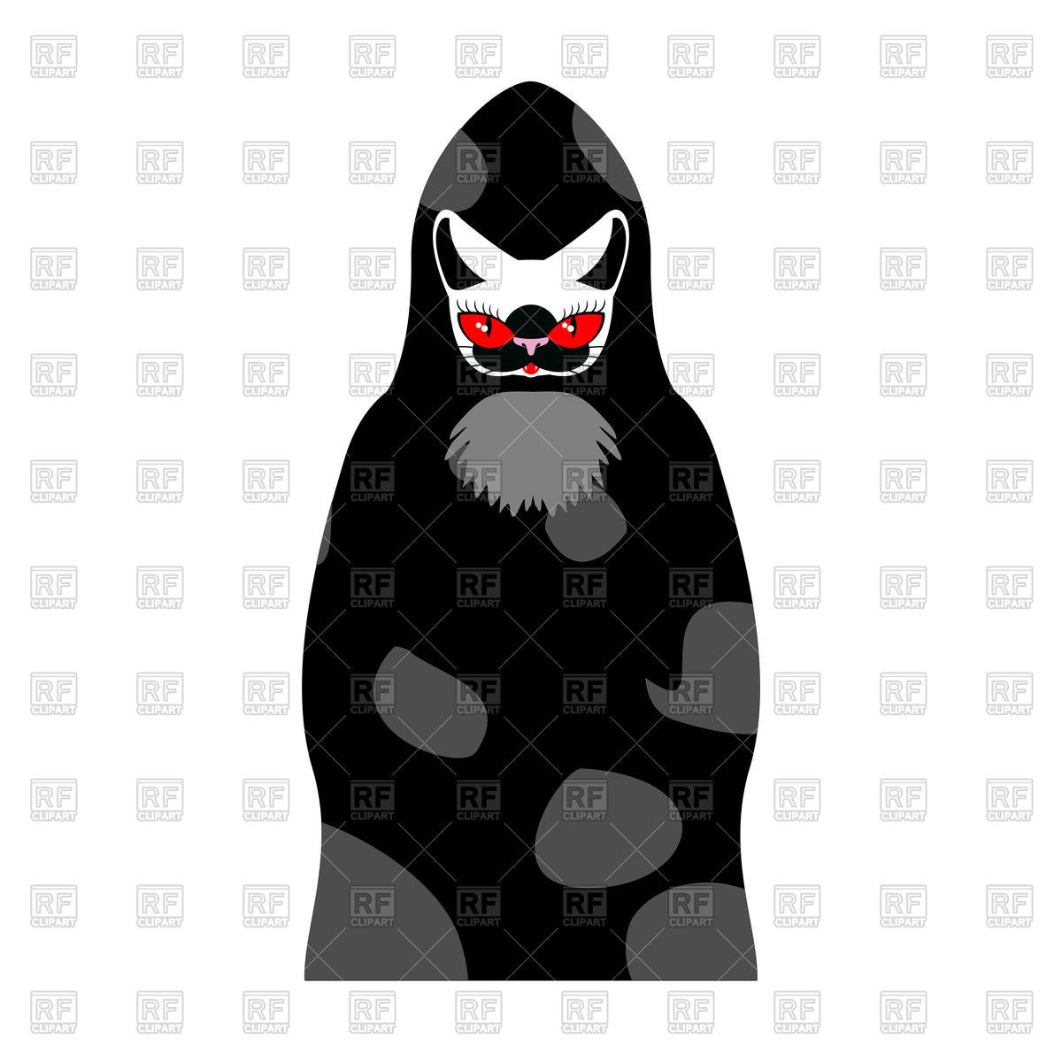 1200x1200 Grim Reaper Cat. Death With Cats Head. Vector Image Vector