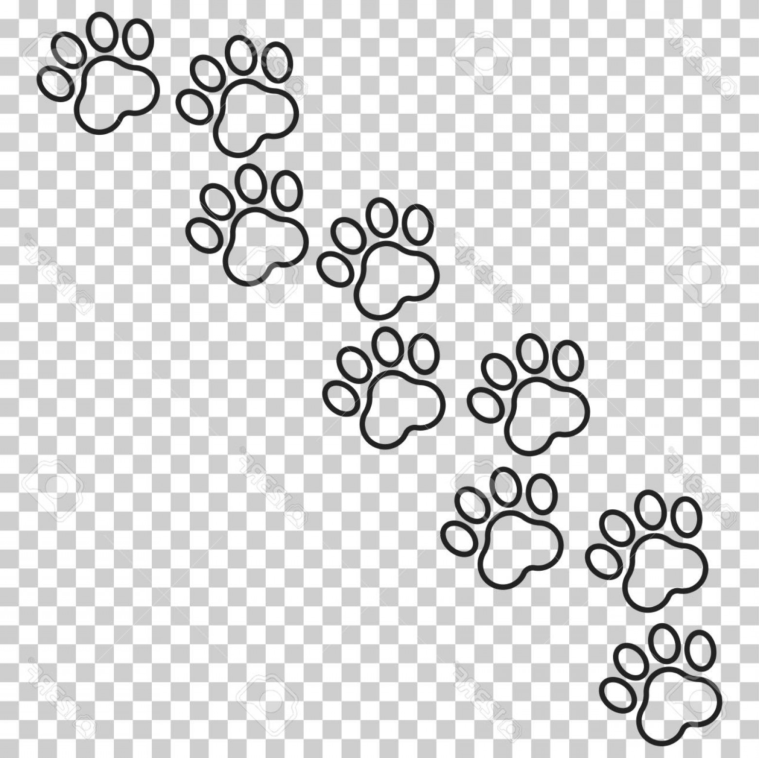 Cat Paw Print Vector at GetDrawings com | Free for personal