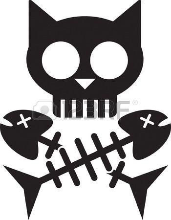350x450 Cat Skull Bones Skull Cat Skull, Art Clipart And