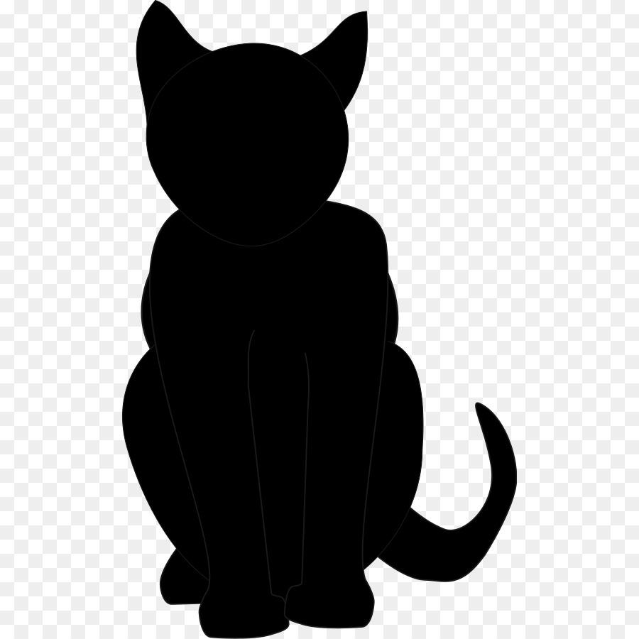 900x900 Black Cat Kitten Clip Art
