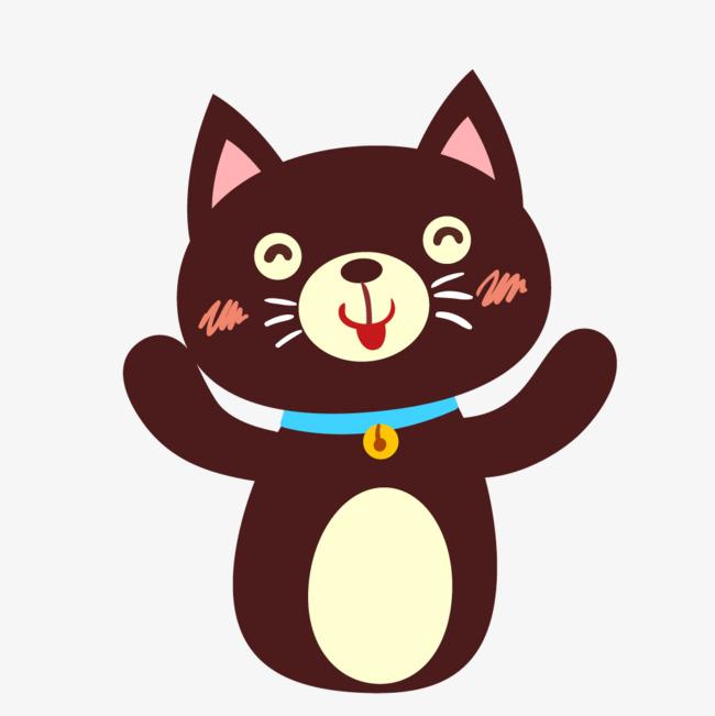 650x651 Brown Cartoon Cat Vector Png, Cartoon Vector, Cat Vector, Brown