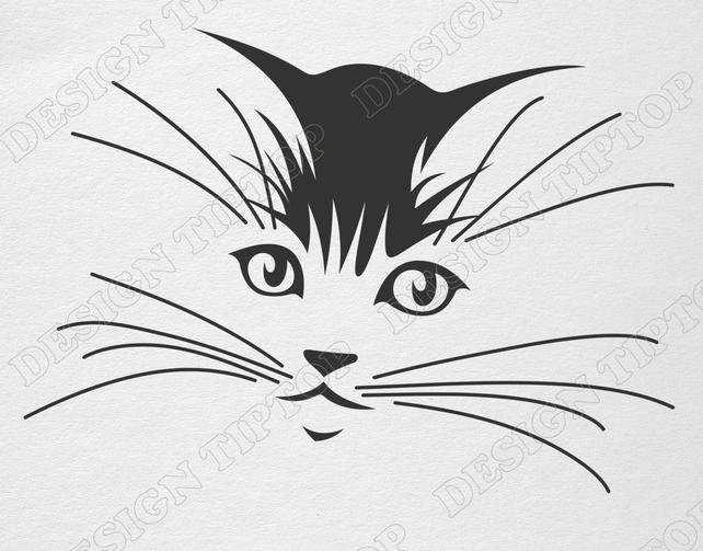 642x503 Cat Svg File Kitten Svg Png Eps Cat Clipart Cat Vector Etsy