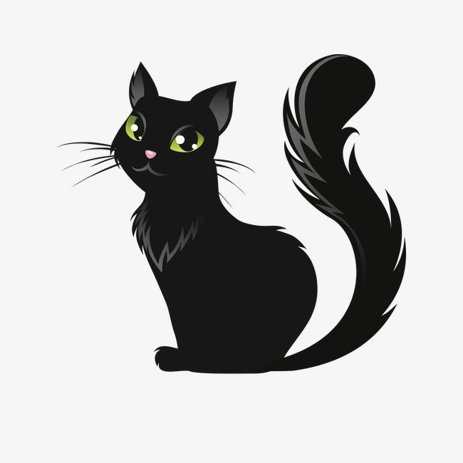 650x650 Halloween Black Cat Vector Material, Cat Clipart, Halloween, Evil
