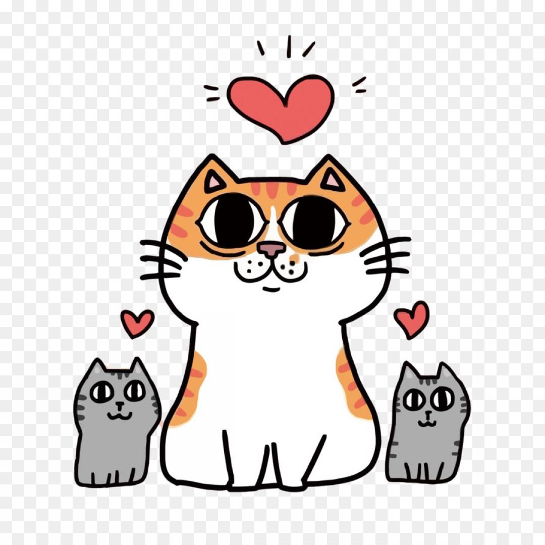 1080x1080 Png Cartoon Illustration Cat Vector Lazttweet