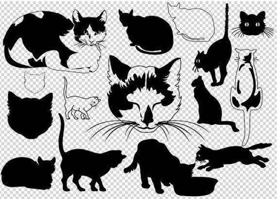 570x410 Printable Cats Vector Cut Files Cat Svg Cats Png Cat Etsy