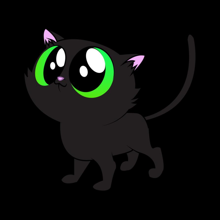 894x894 Black Cat Vector By Aquaticneon