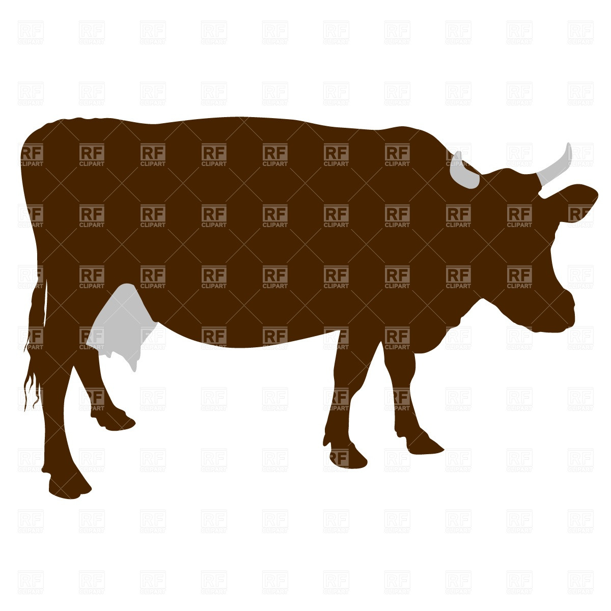 1200x1200 Cow Silhouette Vector Image Vector Artwork Of Plants And Animals