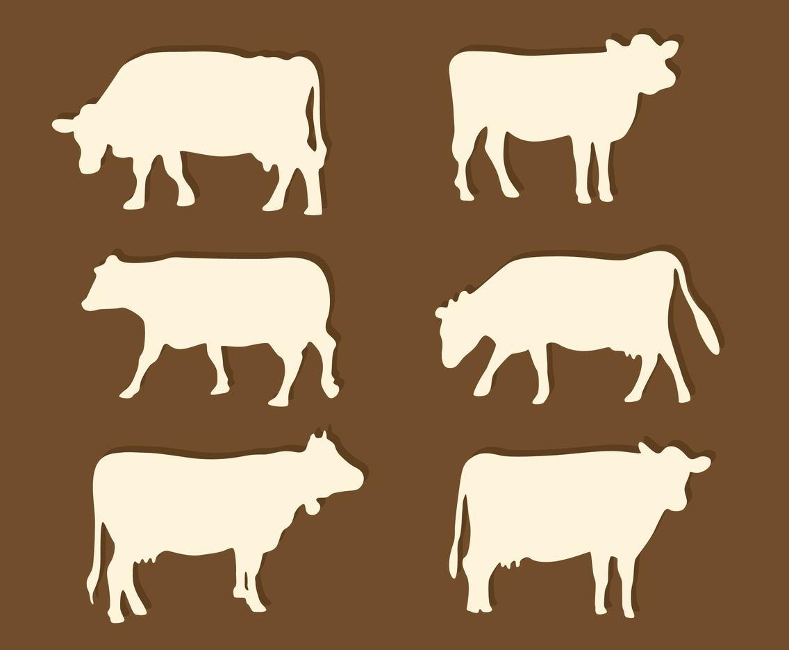 1136x936 Silhouette Cattle Vector Vector Art Amp Graphics