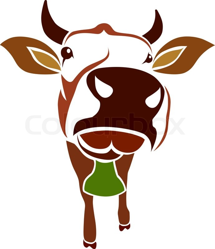 690x800 Vector Image Of An Cow On White Background Stock Vector Colourbox