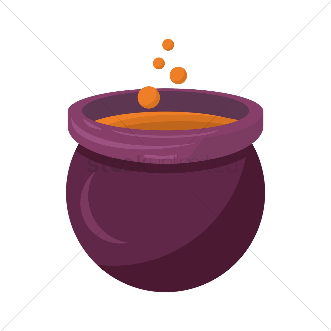 1300x1300 Witch Cauldron Vector Image