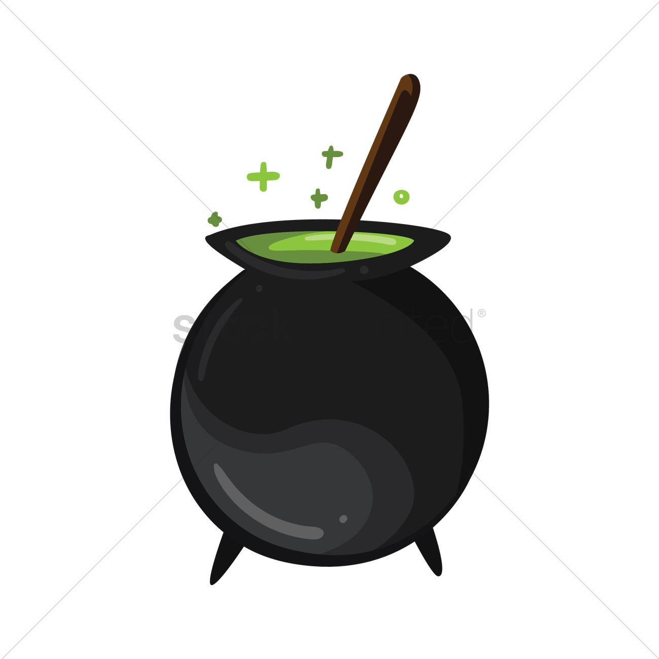 1300x1300 Witches Cauldron Vector Image
