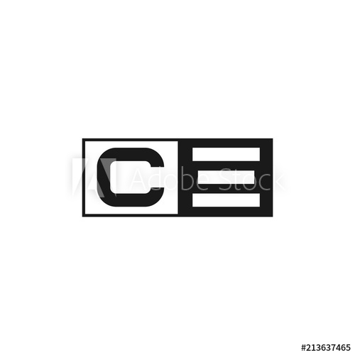 500x500 Initial Letter Ce Logo Template Design