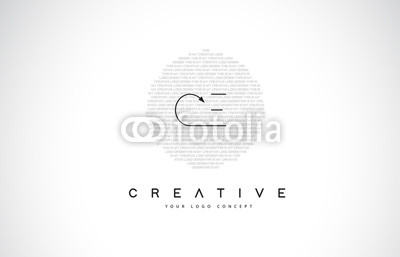 400x257 Ce C E Logo Design With Black And White Creative Text Letter