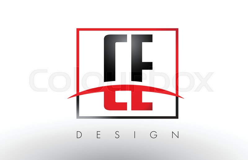 800x515 Ce C E Logo Letters With Red And Black Colors And Swoosh. Creative