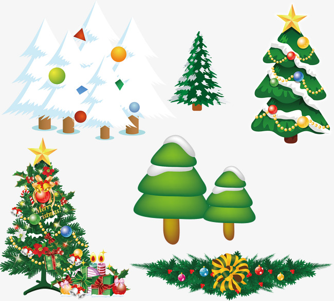 650x587 Christmas Cedar Tree Vector Cartoon, Christmas Vector, Tree Vector
