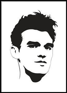 216x300 Morrissey Portrait, Minimalistic , Celebrity Portrait, Vector Art