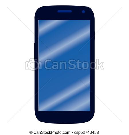 450x470 Isolated Cellphone Icon On A White Background, Vector Illustration.