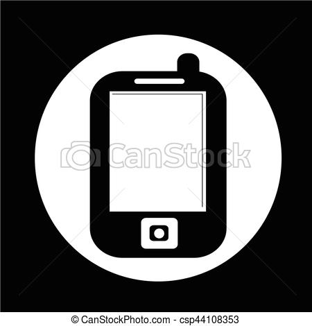 450x470 Mobile Phone Icon Clipart Vector