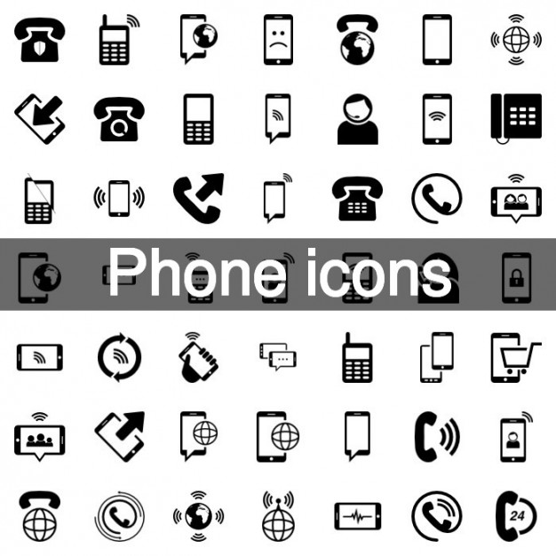 626x626 Mobile Phone Icon Set Vector Free Download