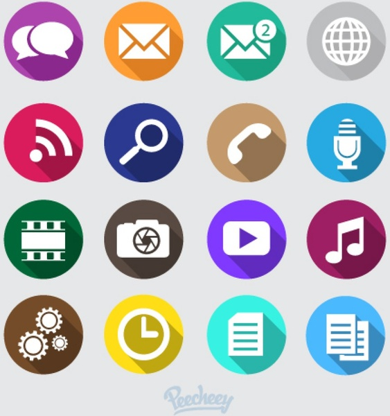 563x600 Mobile Phone Icons Free Vector In Adobe Illustrator Ai ( .ai