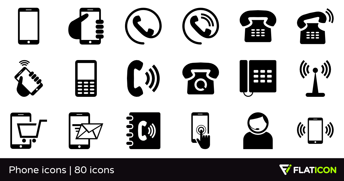 1200x630 Phone Icons 80 Free Icons (Svg, Eps, Psd, Png Files)