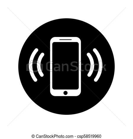 450x470 Ringing Phone Icon In Circle. Mobile Call Icon. Ringing Phone Icon